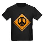Peace Ahead Kids Dark T-Shirt
