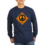 Peace Ahead Long Sleeve Dark T-Shirt