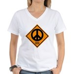 Peace Ahead Women's V-Neck T-Shirt
