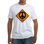 Peace Ahead Fitted T-Shirt