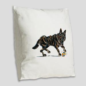 German Shepherd Dax Burlap Throw Pillow