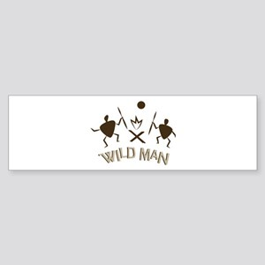 Wild Man Bumper Sticker