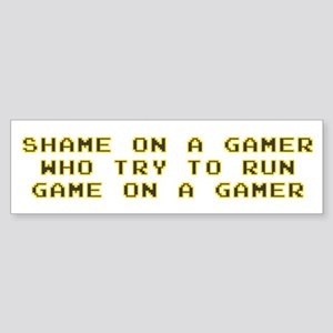 Gamer Shame Bumper Sticker