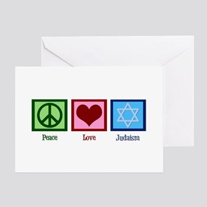Peace Love Judaism Greeting Card