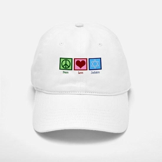 Peace Love Judaism Baseball Baseball Cap