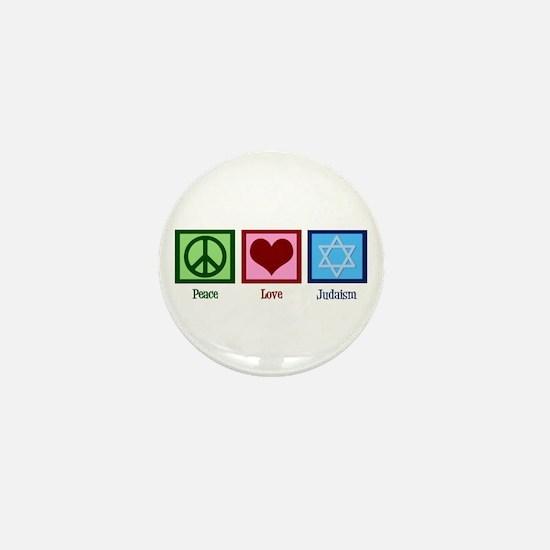 Peace Love Judaism Mini Button