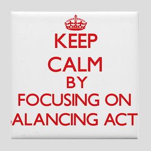 Balancing Acts Tile Coaster