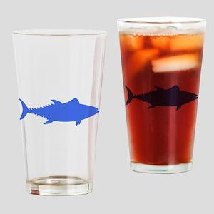 Blue Tuna Fish Drinking Glass
