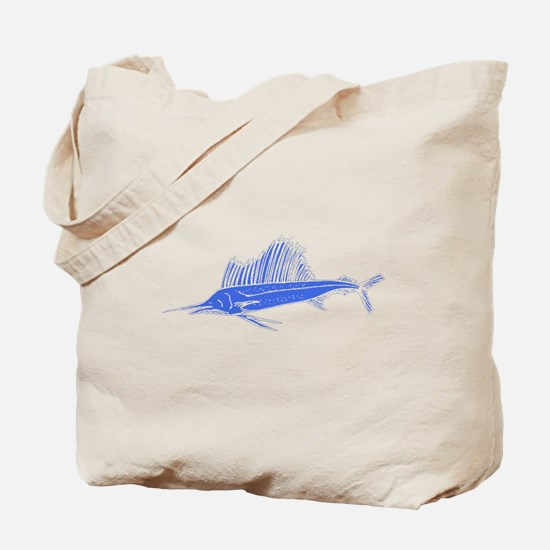 Blue Sail Fish Tote Bag