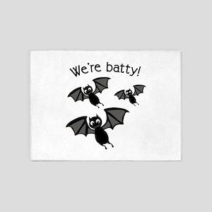 Were Batty 5'x7'Area Rug