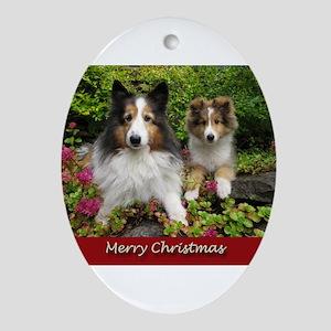 Christmas Friends Ornament (Oval)
