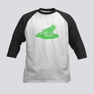 Green Frog On Lilypad Baseball Jersey