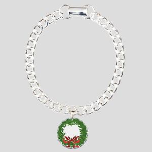 cannabis christmas wreat Charm Bracelet, One Charm