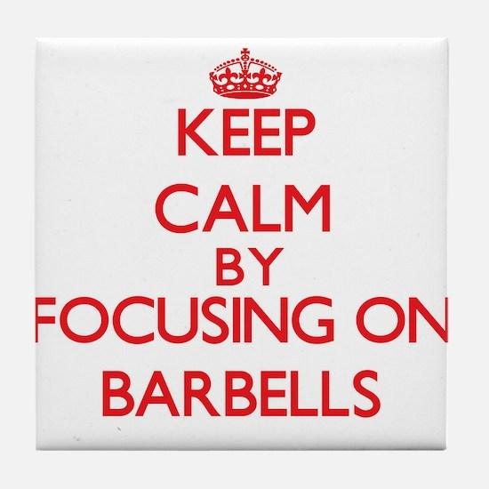 Barbells Tile Coaster