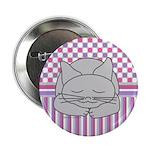 Sleeping Gray Cat Pink Patt 2.25