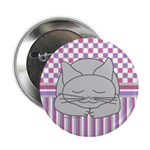 Sleeping Gray Cat Pink Pattern 2.25