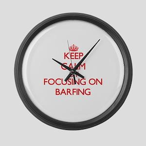 Barfing Large Wall Clock