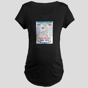 VIETNAM WAR: AIR FORCE UNIT & OP Maternity T-Shirt