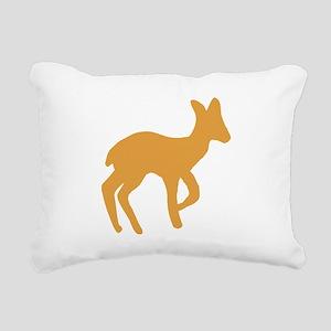 Brown Fawn Rectangular Canvas Pillow