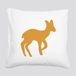 Brown Fawn Square Canvas Pillow
