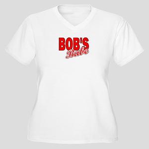 BOB'S BABE Women's Plus Size V-Neck T-Shirt