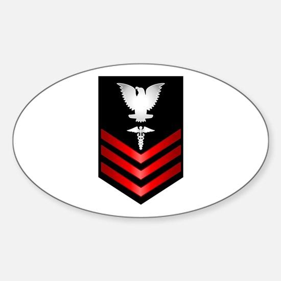 Funny Naval officer Sticker (Oval)