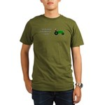 Green Christmas Tract Organic Men's T-Shirt (dark)
