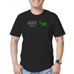 Green Christmas Tracto Men's Fitted T-Shirt (dark)