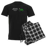 Green Christmas Tractor Men's Dark Pajamas