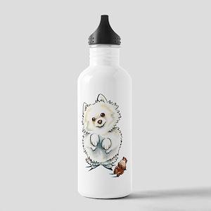 Pomeranian Boo Water Bottle
