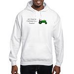 Green Christmas Tractor Hooded Sweatshirt