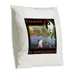 WMC Calming by Consistency Burlap Throw Pillow