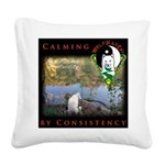 WMC Calming by Consistency Square Canvas Pillow