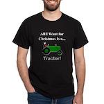 Green Christmas Tractor Dark T-Shirt