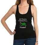 Green Christmas Tractor Racerback Tank Top