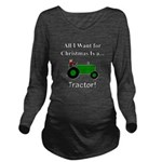 Green Christmas Trac Long Sleeve Maternity T-Shirt