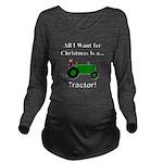 Green Christmas Trac Long Sleeve Maternity T-Shirt