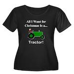 Green Ch Women's Plus Size Scoop Neck Dark T-Shirt