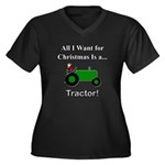 Green Christ Women's Plus Size V-Neck Dark T-Shirt