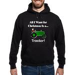 Green Christmas Tractor Hoodie (dark)