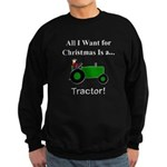 Green Christmas Tractor Sweatshirt (dark)