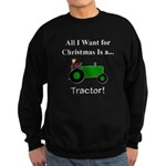 Green Christmas Tractor Sweatshirt (dark)