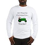 Green Christmas Tractor Long Sleeve T-Shirt