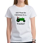 Green Christmas Tractor Women's T-Shirt