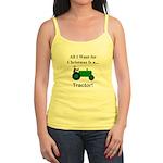 Green Christmas Tractor Jr. Spaghetti Tank