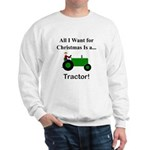Green Christmas Tractor Sweatshirt