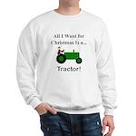 Green Christmas Tractor Sweatshirt