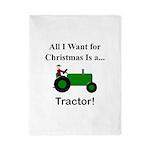 Green Christmas Tractor Twin Duvet