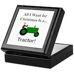 Green Christmas Tractor Keepsake Box