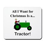 Green Christmas Tractor Mousepad